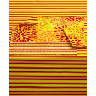 Fiesta Table Linens, Set of 4 Siesta Sunflower Stripe Placemats