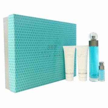Perry Ellis 360 Coffret: Edt Spray 100ml/3.4oz+ After Shave Balm 90ml/3oz+ Shower Gel 90ml/3oz+ Edt Spray 7.5ml/0.25oz 4pcs
