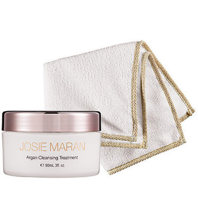 Josie Maran Argan Cleansing Treatment + Cloth 3 oz