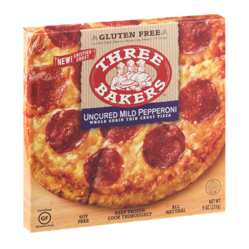 Three Bakers Whole Grain Thin Crust Pizza Uncured Mild Pepperoni