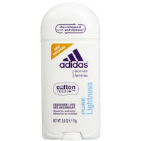 Adidas Cotton Tech Aluminium Free Women Deodorant, Pure Lightness - One 2.6 Oz Tube
