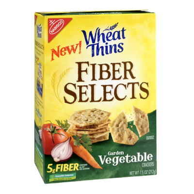 Nabisco Wheat Thins Fiber Selects Garden Vegetable Crackers