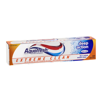 Aquafresh Extreme Clean Deep Action Fluoride Toothpaste Mint Zext