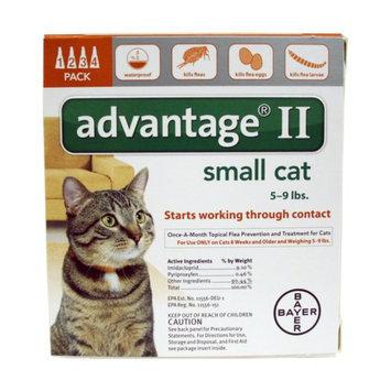 Advantage II Cat 5-9lbs, 4 Month, 4 ea