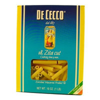 De Cecco Ziti Zita Cut No. 118 Pasta 16 Oz. Box