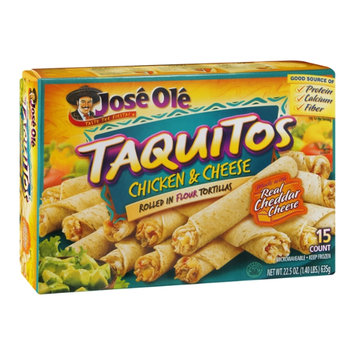 Jose Ole Taquitos Flour Tortillas Chicken & Cheese - 15 CT