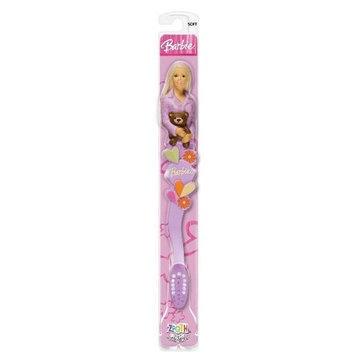 Zoothbrush Manual Toothbrush, Barbie Purple Top w/Heart