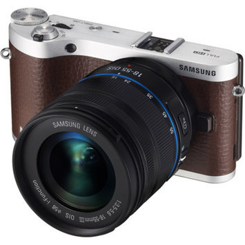 Samsung Brown/Silver NX300 Smart Compact System Digital Camera with 20.3 Megapixels and 20x Optical Zoom
