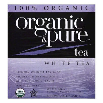 Organic & Pure Organic and Pure White Tea, - Pack of 6