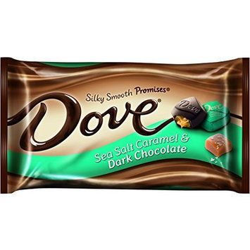 DOVE PROMISES Sea Salt Caramel and Dark Chocolate Candy 7.94-Ounce Bag (Pack of 12)