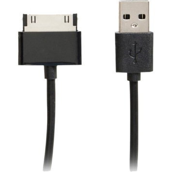 4XEM 3FT 30-Pin Dock Connector To USB Cable For iPhone/iPod/iPad (Black)