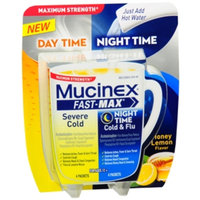 Mucinex Fast-Max Day/Night Packets, Honey Lemon, 8 ea