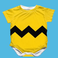 Mama Goose Handmade Charlie Brown Onesie - Size 3-6 Months