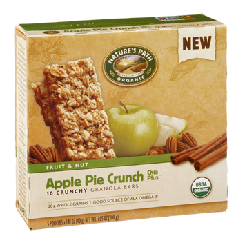 Nature's Path Organic Fruit & Nut Granola Bars Apple Pie Crunch - 10 CT