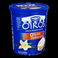 Dannon Oikos Greek Nonfat Yogurt Vanilla