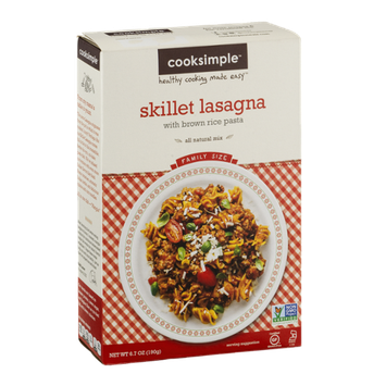 Cooksimple Skillet Lasagna Mix With Brown Rice Pasta