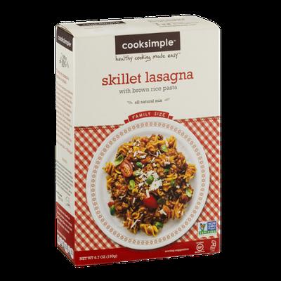 Cooksimple Skillet Lasagna Mix With Brown Rice Pasta