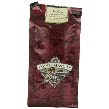 Coffee Masters Flavored Coffee, Irish Creme, Whole Bean, 12-Ounce Bags (Pack of 4)