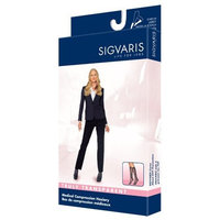 Sigvaris Truly Transparent Knee High 20-30mmHg Closed Toe Short Length, Large Short, Dark Navy