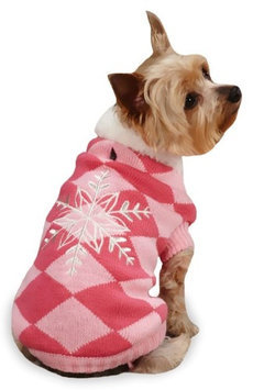 East Side Collection Snowflake SnuGuardian Gearler Sweater Pink, Small