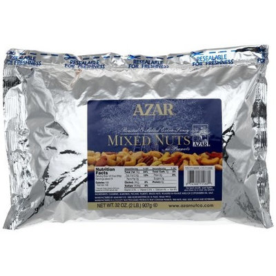 Azar Nut Company Mixed Nuts (no Peanuts), Oil Roasted, Salted, 32-Ounce Resealable Bag