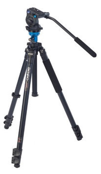 Benro A1573FS2 Video Fluid Head Tripod Kit Single Legs Carry Case w/Strap Incl.