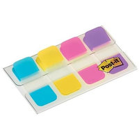 Post-it(R) Tabs With On-The-Go Dispenser, 5/8in, Assorted Colors, 40 Tabs