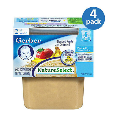 Gerber 2nd Foods Plastic: Oatmeal Cereal W/Blended Fruits 7 Oz (2-3.5 Oz) Cereal