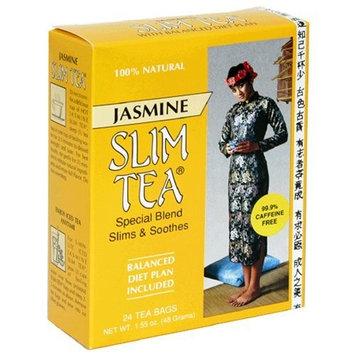 Slim Tea, Jasmine, Tea Bags, 24-Count Box (Pack of 3)