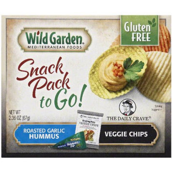 Wild Garden Roasted Garlic Hummus & Veggie Chips Snack Pack, 2.36 oz, (Pack of 30)