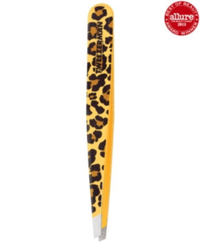 Tweezerman Stainless Steel Slant Leopard Print Tweezer