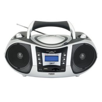 Naxa NPB-250 Portable MP3/CD Player with Text Display