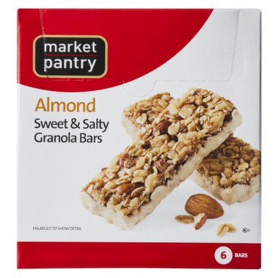 Market Pantry Sweet & Salty Almond Granola Bars 7.4-oz.