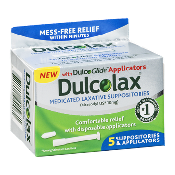 Dulcolax Medicated Laxative Suppositories & Applicators - 5 CT