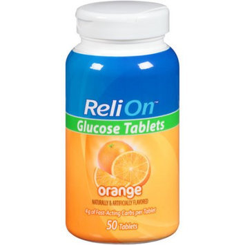 Wal-mart Store, Inc. ReliOn(tm) Orange Glucose Tablets, 50 count