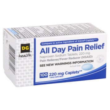 DG Health All Day Pain Relief Caplets - 100 ct