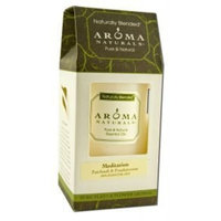 Aroma Naturals Patchouli and Frankincense Essential Oil White Scented Pillar Candle, Meditation