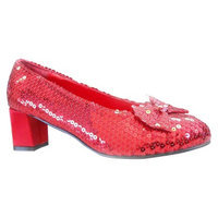 Buy Seasons Judy Red Sequin Adult Shoes - 10.0
