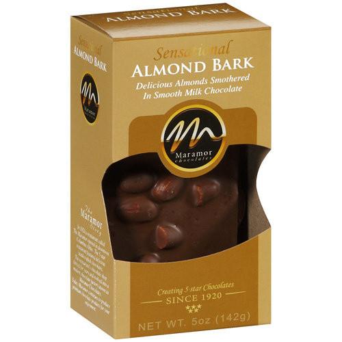 Maramor Chocolates Almond Bark Chocolate, 5 oz