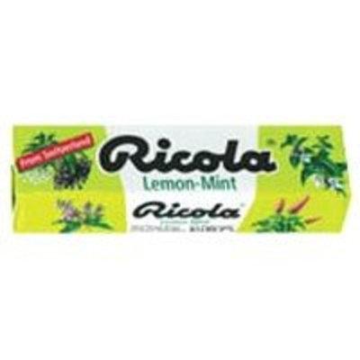 Ricola Natural Herb Throat Drops with Lemon Mint - 24 X 10 Sticks