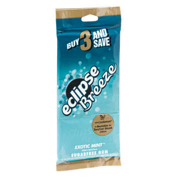 Wrigley's Eclipse Breeze Exotic Mint Sugarfree Gum- 3 PK