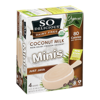 So Delicious Coconut Milk Non-Dairy Frozen Dessert Minis Just Java - 4 CT