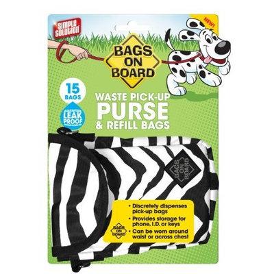 Bags On Board Purse Dispenser Zebra, 15 Bags