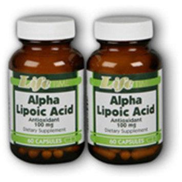 Alpha Lipoic Acid 300 mg Twin Packs LifeTime 60+60 Caps
