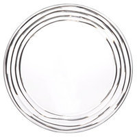Diligence Inc Acrylic Swivel Dinner Plate Set of 4 - Clear