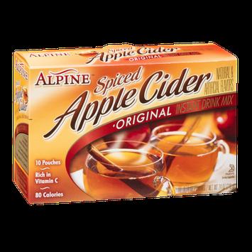 Alpine Spiced Apple Cider Instant Drink Mix Original - 10 CT
