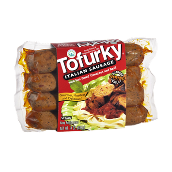 Turtle Island Foods Tofurky Italian Sausage with Sun-Dried Tomatoes and Basil