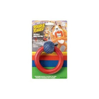 Four Paws Toy Rubber Ring W/Ball 4.5