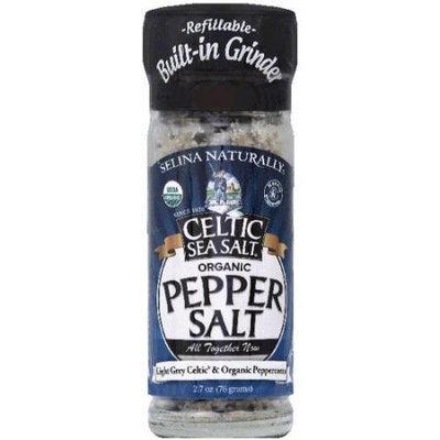 Celtic Sea Salt Organic Pepper Salt, 2.7 oz, (Pack of 6)
