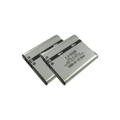 Replacement Battery for Olympus LI50B (2 Pack)
